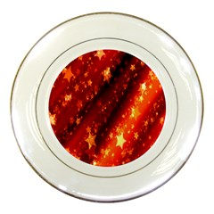 Star Christmas Pattern Texture Porcelain Plates by Nexatart