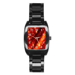 Star Christmas Pattern Texture Stainless Steel Barrel Watch by Nexatart