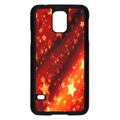 Star Christmas Pattern Texture Samsung Galaxy S5 Case (black)