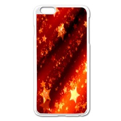 Star Christmas Pattern Texture Apple Iphone 6 Plus/6s Plus Enamel White Case