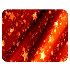 Star Christmas Pattern Texture Double Sided Flano Blanket (medium)  by Nexatart