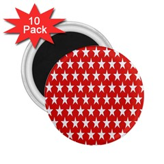 Star Christmas Advent Structure 2 25  Magnets (10 Pack)