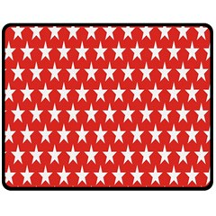 Star Christmas Advent Structure Double Sided Fleece Blanket (medium)