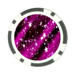 Star Christmas Sky Abstract Advent Poker Chip Card Guard by Nexatart