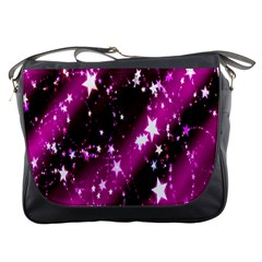 Star Christmas Sky Abstract Advent Messenger Bags