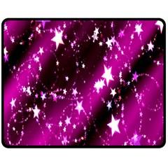 Star Christmas Sky Abstract Advent Double Sided Fleece Blanket (medium)