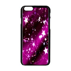 Star Christmas Sky Abstract Advent Apple Iphone 6/6s Black Enamel Case