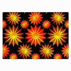 Stars Patterns Christmas Background Seamless Large Glasses Cloth (2 Side)