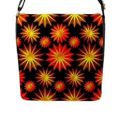 Stars Patterns Christmas Background Seamless Flap Messenger Bag (l)