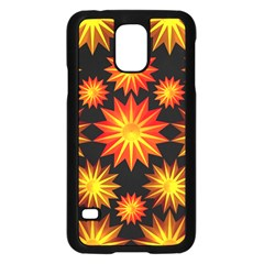 Stars Patterns Christmas Background Seamless Samsung Galaxy S5 Case (black)