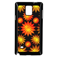 Stars Patterns Christmas Background Seamless Samsung Galaxy Note 4 Case (black)