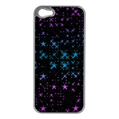 Stars Pattern Apple Iphone 5 Case (silver)