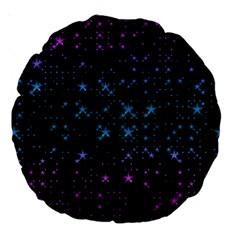 Stars Pattern Large 18  Premium Round Cushions