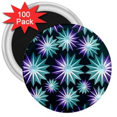 Stars Pattern Christmas Background Seamless 3  Magnets (100 Pack)