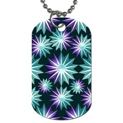 Stars Pattern Christmas Background Seamless Dog Tag (one Side)