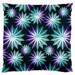 Stars Pattern Christmas Background Seamless Large Cushion Case (two Sides)