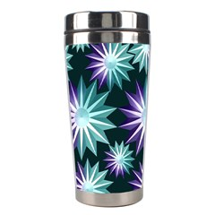Stars Pattern Christmas Background Seamless Stainless Steel Travel Tumblers