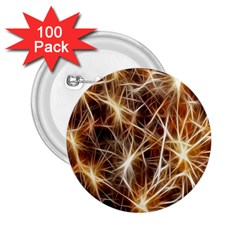 Star Golden Christmas Connection 2 25  Buttons (100 Pack)