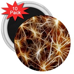 Star Golden Christmas Connection 3  Magnets (10 Pack)