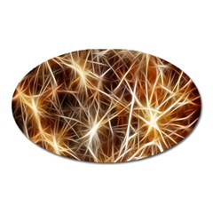 Star Golden Christmas Connection Oval Magnet by Nexatart