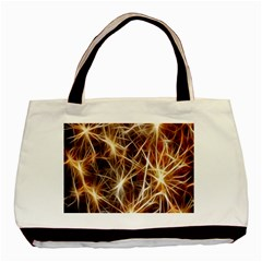 Star Golden Christmas Connection Basic Tote Bag by Nexatart
