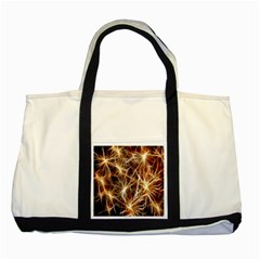 Star Golden Christmas Connection Two Tone Tote Bag by Nexatart