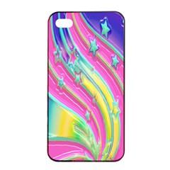 Star Christmas Pattern Texture Apple Iphone 4/4s Seamless Case (black)