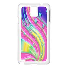 Star Christmas Pattern Texture Samsung Galaxy Note 3 N9005 Case (white)