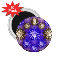 Stars Patterns Christmas Background Seamless 2 25  Magnets (10 Pack)