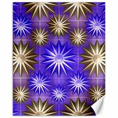 Stars Patterns Christmas Background Seamless Canvas 11  X 14