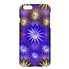 Stars Patterns Christmas Background Seamless Apple Iphone 6 Plus/6s Plus Hardshell Case by Nexatart