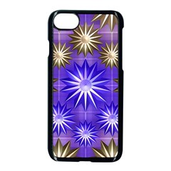 Stars Patterns Christmas Background Seamless Apple iPhone 7 Seamless Case (Black)