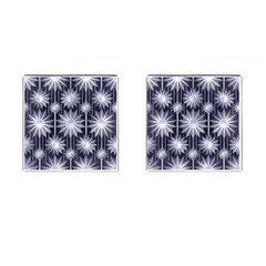 Stars Patterns Christmas Background Seamless Cufflinks (square) by Nexatart