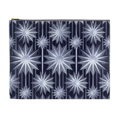 Stars Patterns Christmas Background Seamless Cosmetic Bag (xl)