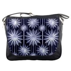 Stars Patterns Christmas Background Seamless Messenger Bags