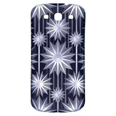 Stars Patterns Christmas Background Seamless Samsung Galaxy S3 S Iii Classic Hardshell Back Case