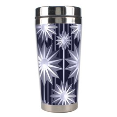 Stars Patterns Christmas Background Seamless Stainless Steel Travel Tumblers