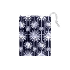 Stars Patterns Christmas Background Seamless Drawstring Pouches (small)
