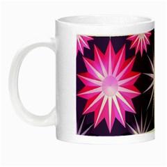 Stars Patterns Christmas Background Seamless Night Luminous Mugs
