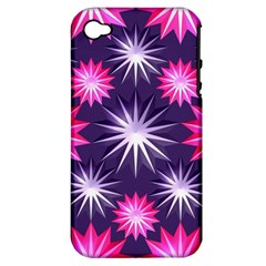 Stars Patterns Christmas Background Seamless Apple Iphone 4/4s Hardshell Case (pc+silicone)