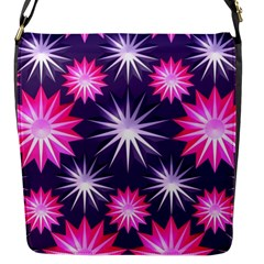 Stars Patterns Christmas Background Seamless Flap Messenger Bag (s)