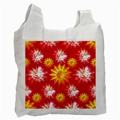 Stars Patterns Christmas Background Seamless Recycle Bag (one Side) by Nexatart