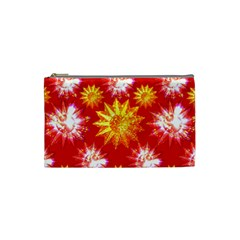 Stars Patterns Christmas Background Seamless Cosmetic Bag (small)