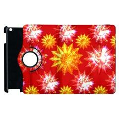 Stars Patterns Christmas Background Seamless Apple Ipad 2 Flip 360 Case