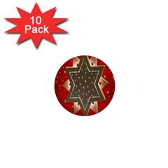 Star Wood Star Illuminated 1  Mini Buttons (10 Pack)