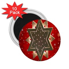 Star Wood Star Illuminated 2 25  Magnets (10 Pack)