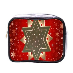 Star Wood Star Illuminated Mini Toiletries Bags by Nexatart