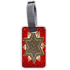 Star Wood Star Illuminated Luggage Tags (two Sides)