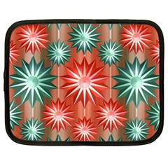 Stars Patterns Christmas Background Seamless Netbook Case (xxl)
