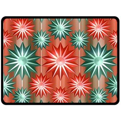 Stars Patterns Christmas Background Seamless Fleece Blanket (large)